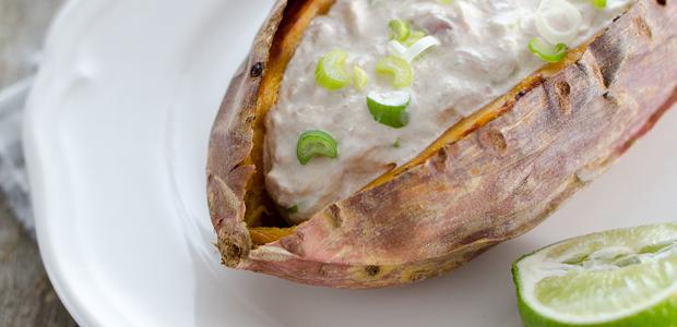 Schnelle Rezepte – Süßkartoffeln mit Thunfischsalat